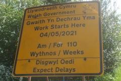 New Dyfi Bridge scheme. Tuesday, 25.5.2021. Information signs have appeared in Machynlleth …