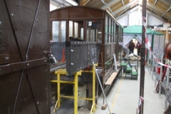 … but carriage No. 23 has had to be moved up sufficiently that Adrian's work space is now rather confined!