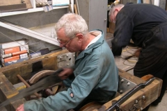 … before helping out, modifying the frames of the Queen Mary waggon for the refurbished drawbar.