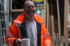 … just in time for Mr. Saffery to arrive in a blur with his lunch!
