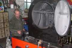 … to carry out some routine maintenance work on No. 7's trailing truck and regulator.