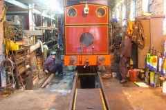 During all this time, Richard and Trefor have been working on No. 7's brake problem …
