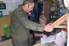 Richard completes No. 7's paper work as Trefor arrives …