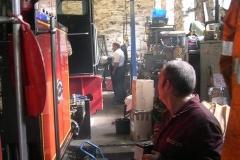 Saturday, 25.7.15. Graeme shows Neil Thompson around No. 11 as Trefor looks on …