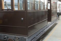 Footboards have been added, and the underframe has been rubbed down ready for its final paint system to be applied.