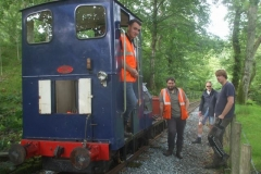 The gang were to be found up the line, just having finished clearing undergrowth and entrances to culverts.