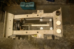 … and one bogie's brakes are largely fitted and working.