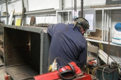 … before Ade returns to welding on the Queen Mary waggon ...