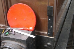 A lamp bracket has been fitted to carriage No. 20, ready for it to lead trains southwards ...