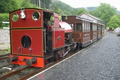 The carriage builders have been enjoying a day relaxing on the railway, running steam and gravity trains …