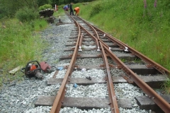 … after changing some and adding extra ballast after packing on the approach to the Carriage Shed.