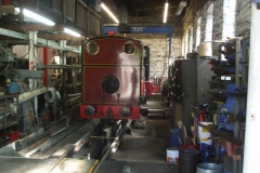 Friday, 28.6.2019. Trefor and Richard gently bring No. 7 to steam ready for refinements to valve settings by Vale of Rheidol staff after last winter's work …