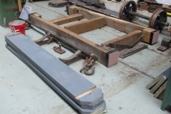 Nearby, the correct components for a heritage 2 plank Private Owner waggon have been laid out for assembly in due course.