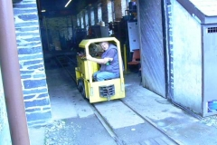 No 9 emerges from the engine shed for a test of the new batteries.