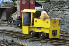No 9 with Ifor and Billy aboard begin the trip to the carriage shed...