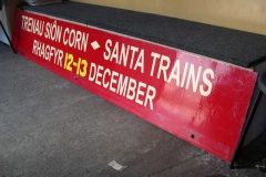 The gantry advertising board for Santa is ready …