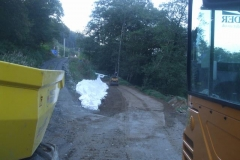 ... and by evening, the surface is rolled once more.