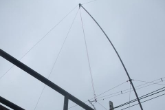 ... to set up a whippy mast for Railways on the Air weekend ...