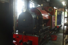 ... until it once again, resides within its home shed.