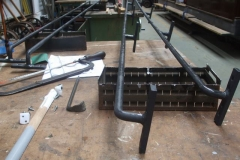 … and all four longitudinal handrails had been painted in dark grey undercoat.