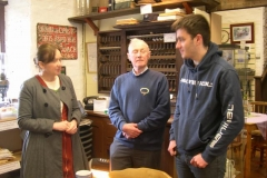 … and Liz Saville Roberts, M.P. for Meirionnydd-Dwyfor talks in the Museum with Roger and Jack regarding education and training.