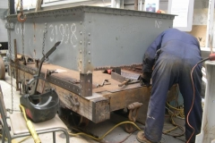 … as Adrian tacks more steel in place …