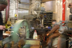 Adrian cuts more steel angle as Steve starts milling …
