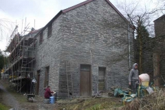 … together with that at the gable end and part of the rear of the building. Pointing work continues …