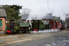 … before Jack on No. 3 leads the re-arranged formation back into the station.
