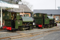 … before running round to leave the two Corris engines together. No. 3 was in light steam, while No. 4 was partially dismantled …