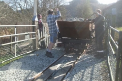 … while Richard films Tony and Jack ballasting around Maespoeth North Accommodation crossing ...