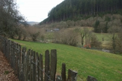 …while the trees have also been cut down around the Corris sewage works – more open views!