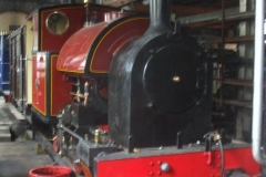 Inside the Engine Shed at Maespoeth, No. 7 has been completely reassembled after its winter strip-down, and repositioned ready for its steam test.