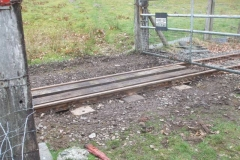 Monday, 8.3.2021. Despite the cold and wet weather, Maespoeth North Accommodation crossing has had sleepers replaced …
