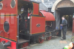 Saturday, 20.3.2021. Trefor is very happy, cleaning No. 7 preparatory to its boiler steam test …