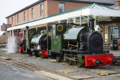 """Wednesday, 17.3.2021 The Talyllyn Railway invited local Corris members to witness a re-enactment of the arrival of the Corris engines there in 1951, starting with the engines being brought down to Wharf Station by TR No. 2, """"Dolgoch"""" …"""