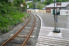 … all fenced off, white lines repainted and ready to receive passengers.