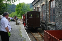 No. 6 has picked up the Heritage Waggons and No. 7 adds a brake van in the process of running around its train ...