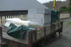 … and a delivery of materials has arrived at Maespoeth for use around the railway.