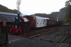 After passenger services are finished, the train awaits at Maespoeth … (AR)