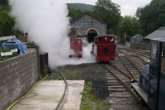 No. 5 receives a steam clean as No. 7's boiler is blown down …