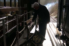 … while Phil and Graham refurbish the platform benches …
