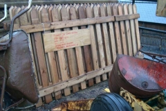 New, ready-made fencing panels have been delivered …