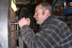 Then, Trefor and Dave can replace the wash-out plugs …