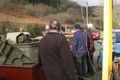 Tuesday, 2.2.16. It is dry, and Steve has arrived to remove machine tools stored in the Carriage shed, assisted by Dick (amongst others) …