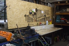 … and enlarging and improving the tools shadow board in the Engine Shed.