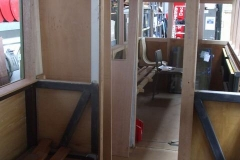 … and the vestibule door pocket sections cut – or at least, the window positions marked if not cut out.