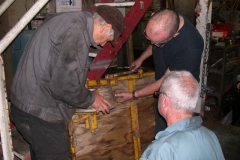 … while at Maespoeth, Steve, Bob and Chris agree action to fix the brake on a trolley …