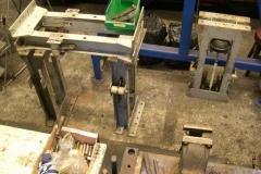 Meanwhile, yesterday Andy fitted more components in bogie stretchers for carriages 23 & 24 …
