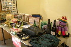 There were plenty of raffle prizes …
